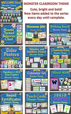 MONSTERS!  All kids love them.  If you are looking for a monster classroom theme, look no further!  This series will have everything you need to have an organized and visually appealing classroom!  Coordinates with all my other monster themed classroom items found here:  https://www.teacherspayteachers.com/Store/Jwdesigns/Category/-Monster-Theme-248075