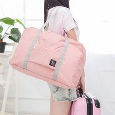 d63a0a4a28886 Women Men Folding Waterproof Luggage Bags Unisex Fitness Bag Outdoor Travel  Bags Bolsa Fitness