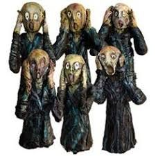 """United Art and Education Art Project: Make an Edvard Munch-inspired sculpture with foam shapes, muslin and fabric stiffener. Then paint it to look like the """"Scream. Art Dolls, Sculpture Art, Artist Project, Art Projects, Sculpture, Art, Art Parody, Art History, Sculpture Projects"""