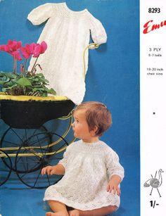 Emu 8293 baby christening  matinee coat and dress by Ellisadine, £1.00