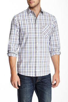 Plaid Long Sleeve Sport Shirt by English Laundry on @HauteLook