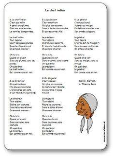 Chansons Comptines Et Poesies Sur Les Indiens D Amerique Comptines Jeux Indien Chef Indien