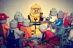 Cornered, lego zombie apocalypse Fine art photography print on Etsy, Lego For Adults, Lego Bed, Lego Website, Lego Zombies, Zombie Army, Lego Halloween, Lego Army, Lego Pictures, Amazing Lego Creations