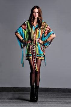 ALEXIS Kendal Kimono Sleeve Silk Dress by La Vie Boheme on @HauteLook