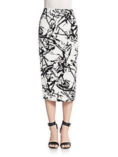 Bell Silk Midi Skirt