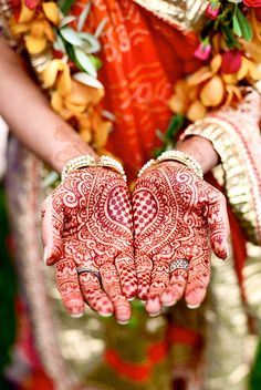 exotic flowers and henna by HennaLounge on Flickr.