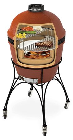 Meat stacked in Komodo Grill Kamado Grill, Bbq Grill, Big Green Egg Grill, Green Egg Recipes, Ceramic Grill, Bbq Accessories, Smoke Grill, Bbq Meat, Smokers