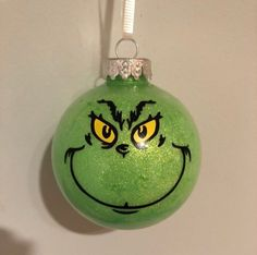 Awesome etsy creations Excited to share this item from my shop: Grinch ornament Grinch Ornaments, Grinch Christmas Tree, Grinch Christmas Decorations, Disney Christmas Ornaments, Painted Christmas Ornaments, Christmas Crafts, Frozen Ornaments, Lightbulb Ornaments, Homemade Ornaments