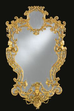 A pair of North German Baroque giltwood mirrors possibly Swedish, first quarter 18th century