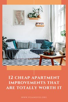 Looking for cheap apartment improvement ideas? Read on for 12 rental DIYs that will make any space more inviting and homey! #cheapdecor #budgetdecorating #savemoney #budgettips Cheap Apartment, Apartment Living, Decorating On A Budget, Interior Decorating, Blog Love, Best Blogs, Mindful Living, Investment Property, Modern Luxury