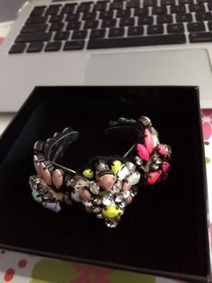 Authentic-Shourouk-Multi-Colour-Crystal-And-Beads-Cuff