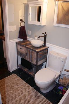 Bathroom Sinks For Tiny Houses tiny house bathroom vanity. reclaimed barn wood with shiplap