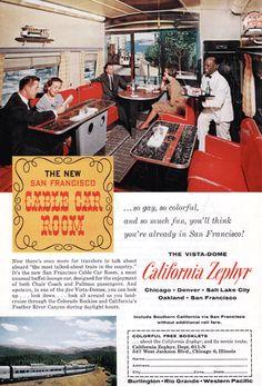 Vista Dome Rail Vintage Ad - 1960's (California Zephyr) # 190