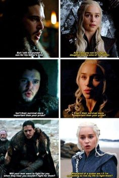 Jon Snow and Daenerys Targaryen parallels. Game of thrones season 7 quotes, Kit Harington, Emilia Clarke