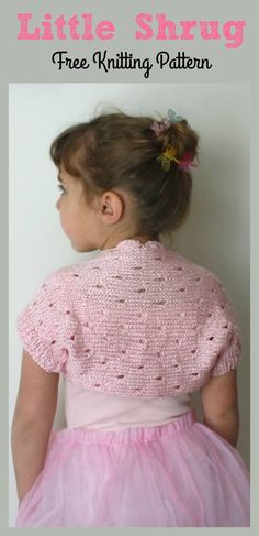 This Little Girl Lace Shrug Free Knitting Pattern is a great way to stay warm in the winter times. Make one now with the free pattern provided by the link below! Baby Cardigan Knitting Pattern Free, Crochet Shoes Pattern, Shrug Pattern, Knitting Patterns Free, Free Knitting, Knitting Ideas, Crochet Lace, Free Pattern, Lace Shrug
