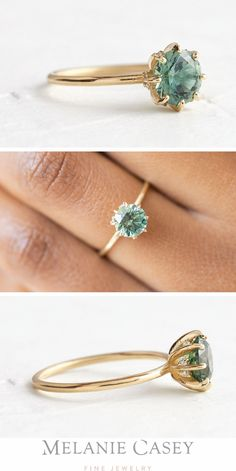 Morganite Engagement, Engagement Ring Settings, Vintage Engagement Rings, Vintage Rings, Non Diamond Engagement Rings, Green Sapphire Engagement Ring, Colored Engagement Rings, Vintage Jewelry, Diy Vintage