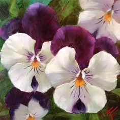"Daily Paintworks - ""Friendly Faces"" - Original Fine Art for Sale - © Krista Eaton Watercolor Flowers, Watercolor Art, Floral Drawing, Decoupage Vintage, Fine Art Auctions, Arte Floral, Fine Art Gallery, Pansies, Flower Art"