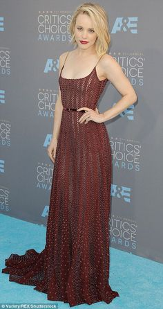 Glitz and glamour: Kate Beckinsale (L) and Rachel McAdams turned heads in embellished dresses