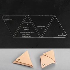 Wuta Triangle Coin Purse Leather Template Acrylic Pattern DIY Tool 897 for sale online Leather Gifts, Leather Pouch, Leather Tooling, Leather Purses, Handmade Leather, Leather Jewelry, Leather Bags, Coin Purse Pattern, Pouch Pattern