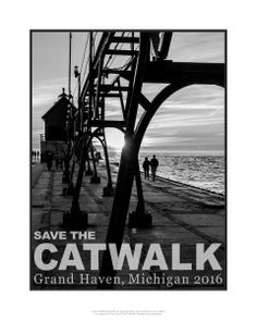We have fabulous posters focused on our catwalk and pier.  #bobwalma #fundraiser