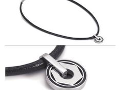 (CLICK PHOTO TO BUY NOW ONLINE) - Leather and SS necklace w/ 1 Nut Pendant and Enamel | Pendants & Necklaces from Enhancery Jewelers | San Diego, CA