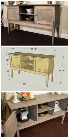 How To: Build a Classic Sideboard to Maximize Your Storage and Style! FREE PLANS at buildsomething.com: