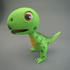 Cartoon Dinosaur 3d model (1)