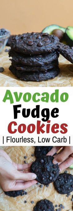 All Things Creati Avocado Fudge Cookies Flourless, Low Carb! Avocado Dessert, Paleo Dessert, Dessert Recipes, Keto Cookies, Fudge Cookies, Low Carb Desserts, Low Carb Recipes, Ketogenic Recipes, Ketogenic Deserts