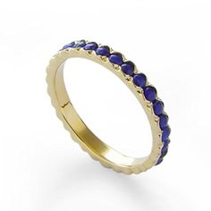 Gemstone Wedding Band Blue Lapis ring 14K Yellow gold ring gemstone Stacking ring Lapis gold band Vintage style ring gold and Lapis everyday gold band * Check this awesome product by going to the link at the image.