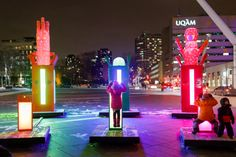 Luminothérapie: 10 years of winter creativity in Montreal Creating A Portfolio, Interactive Installation, Monthly Themes, Global Art, Winter Landscape, Popular Culture, Public Art, 10 Years, Discovery