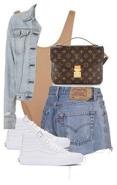 """""""Untitled #3863"""" by theeuropeancloset ❤ liked on Polyvore featuring Norma Kamali, Vans, Louis Vuitton and rag & bone"""