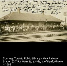 York Railway Station :1906 Back In Time, Toronto, York