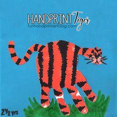 Jungle Safari Craft: Handprint Tiger