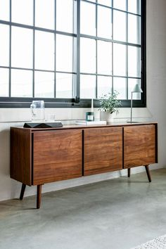 Timeless organization: yes please. The Seno Sideboard helps keep you store every bit and bob. Credenza Decor, Sideboard Furniture, Walnut Sideboard, Tv Credenza, Kitchen Sideboard, Walnut Furniture, Modern Furniture, Furniture Design, Modern Couch