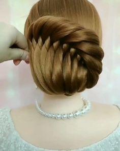 Bun Hairstyles For Long Hair, Braids For Long Hair, Braided Hairstyles, Hair Updo, Summer Hairstyles, Front Hair Styles, Medium Hair Styles, Natural Hair Styles, Hair Style Vedio