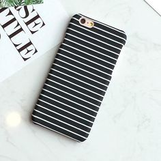 Fashion Stripe Cover For iphone 5S Case For iphone 5 5S 6 6S 6 Plus Hard White Black Blue Phone Cases Protect Coque Capa Fundas - Hespirides Gifts - 1