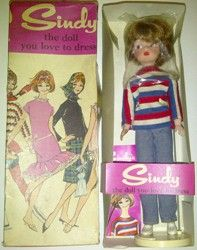 Sindy Doll, 1960s - in her 'Weekender' outfit