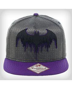 DC Comics Batman Grey and Purple Snapback Hat - Spencer s Batman Heels b672971f81d