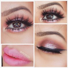 Makeup of the Day: pinkish glitter eyes by monair. Browse our real-girl gallery #TheBeautyBoard on Sephora.com and upload your own look for the chance to be featured here! #Sephora #MOTD