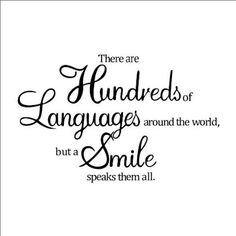 "Quote "" There are Hundreds of Languages around the world, but a Smile speaks them all. "" DIY Removable Wall Decal Vinyl Wall Text Sticker Art Home Decoration"