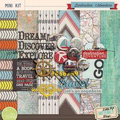 Destination: Adventure mini kit freebie from Little Butterfly Wings