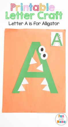 These free printable letter a crafts and activities for preschool, toddler, prek and kindergarten kids works on fine motor skills, visual perception and hand eye coordination. Add these to your letter… - Preschool Children Activities Preschool Letter Crafts, Alphabet Letter Crafts, Abc Crafts, Daycare Crafts, Alphabet Book, Alphabet Activities, Kids Crafts, Crafts For Letter A, Alphabet Letter Templates