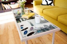 DIY EPOXY RESIN COFFEE TABLE by A Beautiful Mess