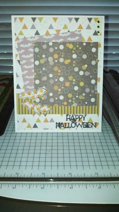 This was made using We R Memory Keepers Bewitched paper, a Lawn Fawn Trick or Treat stamp, and a Hero Arts Celebrate Everyday stamp!