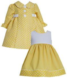 *BABY NEWBORN INFANT 3M-24M* Bonnie Jean Newborn/Infant Bell Sleeve Jacquard Dot Dress/Coat Set YL1MT, Yellow Bonnie Jean,http://www.amazon.com/dp/B00IKZOS78/ref=cm_sw_r_pi_dp_McBctb10FZVMNKZC