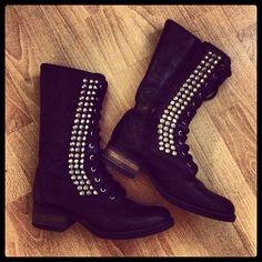 @radical_brittney - Steve Madden TROPADOR #spikes #studs #boots