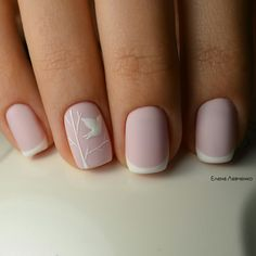 Дизайн ногтей тут! ♥Фото ♥Видео ♥Уроки маникюра Gel Nails French Tip, Nails French Design, White French Nails, Pink French Manicure, Pink White Nails, White Nail Art, Matte Pink, Ongles Gel French, Black Nails