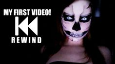 MY FIRST VIDEO EVER! (Skull Makeup Tutorial)