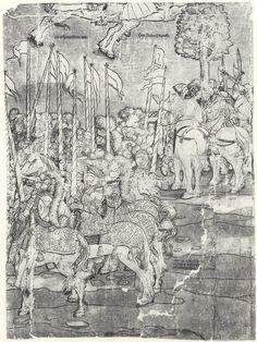 Artist: Breu, Jörg d. Ä., Title: Die Belehnung König Ferdinands mit den österreichischen Erblanden, Detail [15/23], Date: 1530