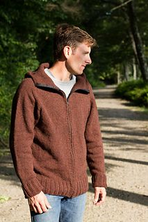 Gilford with and without Hood (Worsted weight( Short Dark Hair, Long Red Hair, Cardigan Pattern, Sweater Cardigan, Men Sweater, Color Patterns, Knitting Patterns, Broken Ribs, Tricot